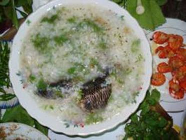 Cháo cá lóc – củ nén chữa bệnh cảm, ngộ độc